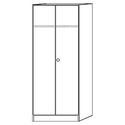Hammerbacher FINO Garderobenschrank - mit 1 Fachboden und 1 Kleiderstange - lichtgrau | 6200/5/5