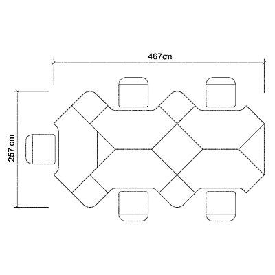 Hammerbacher CALL-TEAM Büroschreibtisch - Breite 800 mm