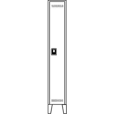 Wolf Garderobenschrank, Fachhöhe 1700 mm - HxBxT 1850 x 400 x 500 mm, Abteilbreite 400 mm
