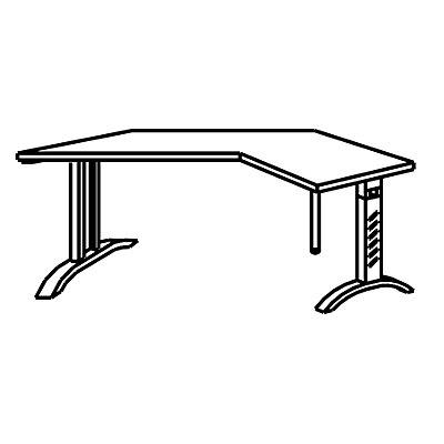 HAMMERBACHER ANNY Winkeltisch – mit Winkel von 135°