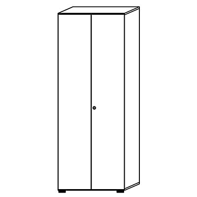 HAMMERBACHER Aktenschrank - Flügeltüren, 5 Fachböden