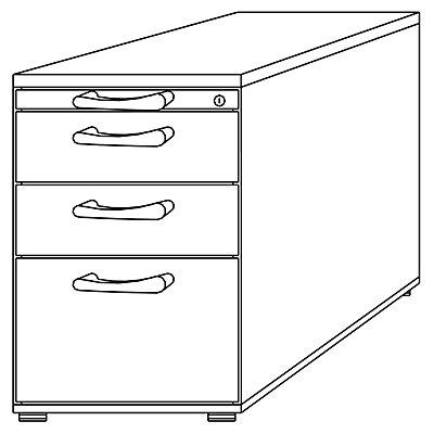 HAMMERBACHER ANNY Standcontainer - 1 Utensilienschub, 2 Materialschübe, 1 Registratur