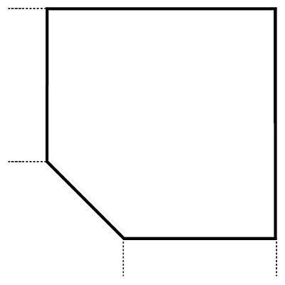 HAMMERBACHER RENATUS Verkettungsplatte - trapezförmig, mit höhenverstellbarem Stützfuß