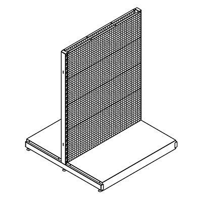 Doppelregal - Anbauregal, BxT 1001 x 1031 mm