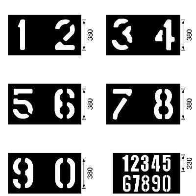 Schablonenset - Set 2 - bestehend aus 6 Einzelschablonen