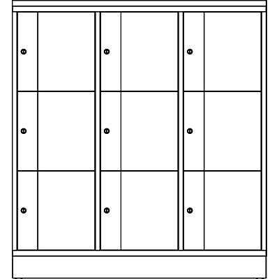 CP Schließfachschrank - HxBxT 1255 x 1150 x 540, 9 Fächer