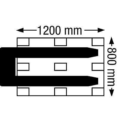 Paletthubwagen, Tragfähigkeit 2000 kg, Lenkrad Vollgummi