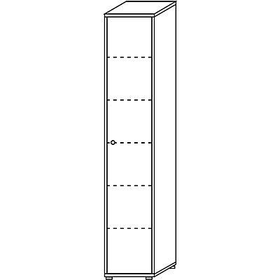 Wellemöbel CLEARLINE Büroschrank - 5 Fachböden, HxBxT 2167 x 400 x 362 mm