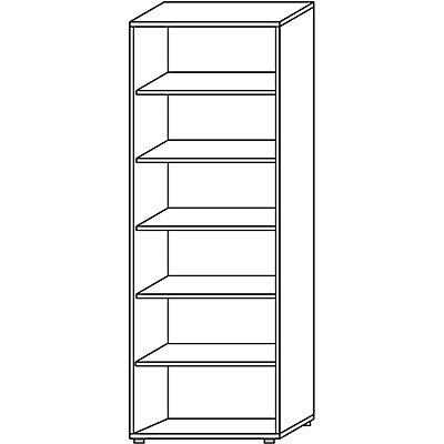 Wellemöbel CLEARLINE Regal - 5 Fachböden, HxBxT 2167 x 800 x 362 mm