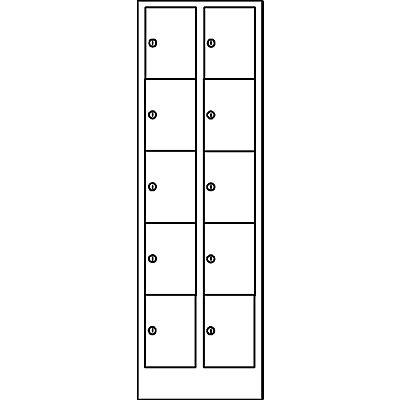 Wolf Schließfachschrank in Komfort-Größe - 10 Fächer, Breite 800 mm