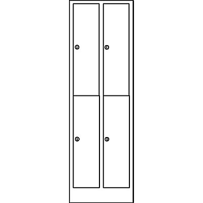 Wolf Garderobenschrank in Komfort-Größe - 4 Abteile, Abteilbreite 300 mm