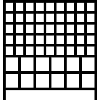 Wandregalsystem mit Sichtlagerkästen - 7 Schienen, 57 Kästen, HxB 1000 x 1010 mm