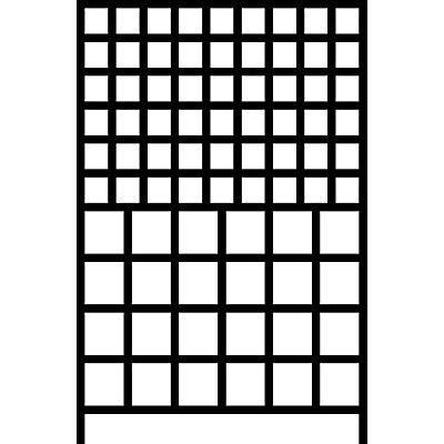 Wandregalsystem mit Sichtlagerkästen - 10 Schienen, 78 Kästen, HxB 1500 x 1010 mm