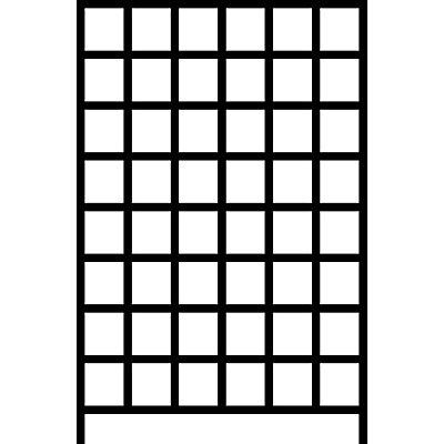 Wandregalsystem mit Sichtlagerkästen - 8 Schienen, 48 Kästen, HxB 1500 x 1010 mm