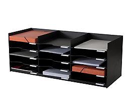 Regal 3 OH Artline Transparent 2 Fachböden, Höhe: 115 cm