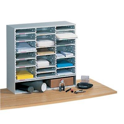 Paperflow Sortierstation mit 18 Fächern - HxBxT 816 x 843 x 325 mm
