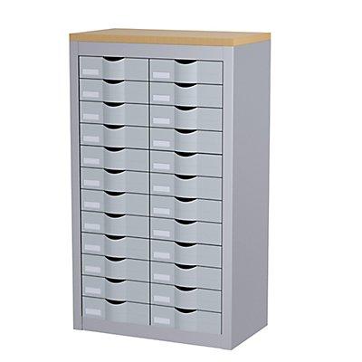 Paperflow Schubladenbox mit 24 Schüben - 2 Reihen, anthrazit