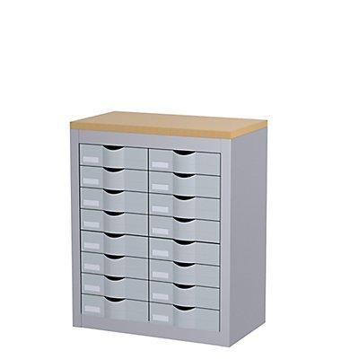 Paperflow Schubladenbox mit 16 Schüben - 2 Reihen