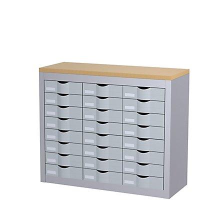 Paperflow Sortierstation mit 24 Schüben - 3 Reihen