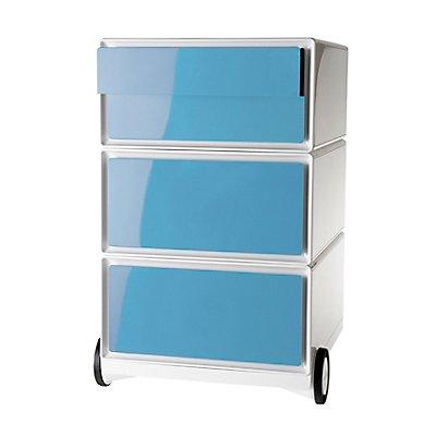 Paperflow Rollcontainer weiß - mit 4 farbigen Schubladen