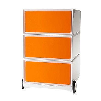 Paperflow Rollcontainer - mit 3 farbigen Schubladen