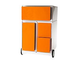 Paperflow Büro Rollcontainer - mit 4 farbigen Schubladen