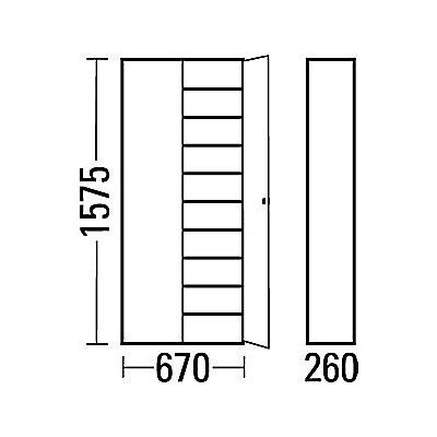 EUROKRAFT Materialschrank aus Stahlblech - Höhe 1575 mm