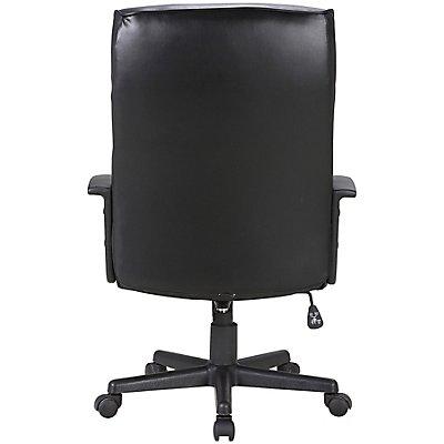 Bürodrehstuhl Urban - mit Lederbezug, schwarz