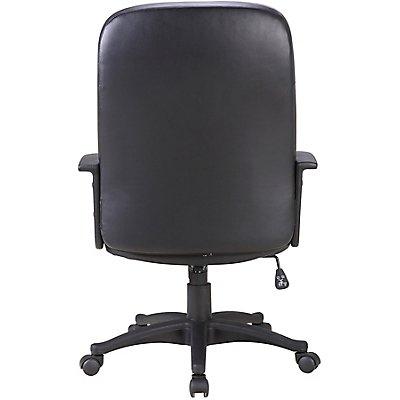 Chefsessel Preston -mit Lederbezug, schwarz
