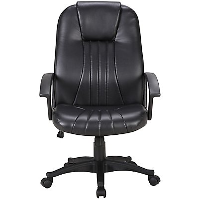 Bürostuhl Pacific - mit Lederbezug, schwarz