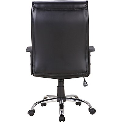 Bürodrehstuhl Oregon - mit Lederbezug und Armlehnen, schwarz