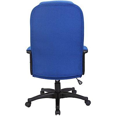 Bürodrehstuhl Siento - mit gepolsterten Armlehnen, schwarz