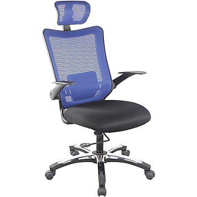 Bürodrehstuhl Optima - mit Netz-Rückenlehne und Kopfstütze