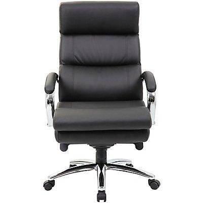Komfort-Chefsessel Consulat - mit Lederbezug, schwarz