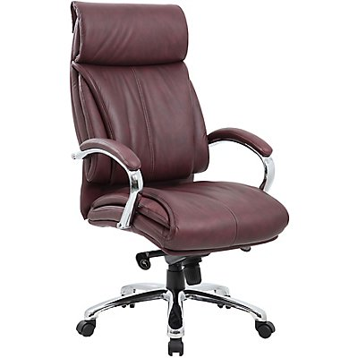 Premium-Bürodrehstuhl Savona - mit Lederbezug und hoher Rückenlehne