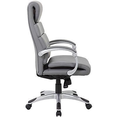 Chefsessel Esna - Lederbezug, Doppelschicht-Sitzpolster