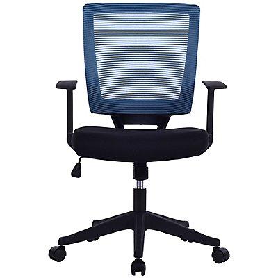 Bürodrehstuhl Galaxy - Netz-Rückenlehne, Armlehnen im T-Design, schwarz