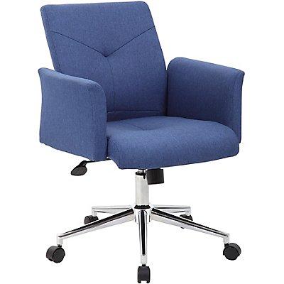 Bürosessel Skye - mit Stoffbezug und Rollen, blau