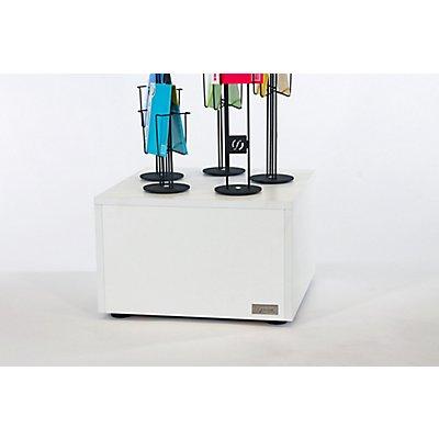 Sky Cube Präsentationsständer - mit Sockel, HxB 1900 x 500 mm