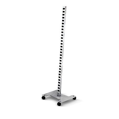 Präsentationsständer SPIN Grundgestell - mit Rollen - eloxalsilber