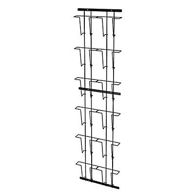 Wandprospekthalter - aus Metalldraht - 10 Fächer, silber