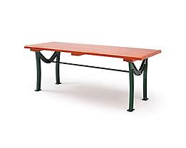 Holz-Tisch mit Gusseisengestell - LxBxH 1800 x 720 x 740 mm - Holz-Tisch mit Gusseisengestell