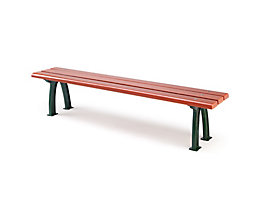 Parkbank mit Gussgestell - Sitz- und Rückenfläche Fichtenholz - ohne Rückenlehne