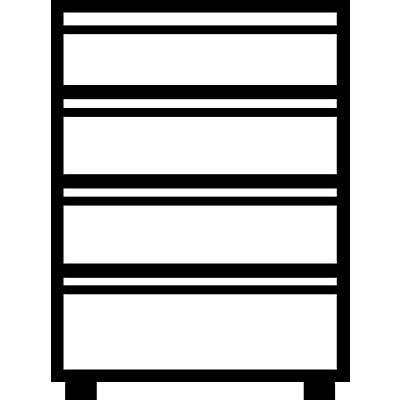 Mauser Karteischrank, Griffleisten - 4 Schübe, 3-bahnig