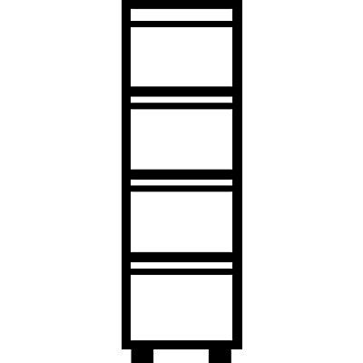 Mauser Hängeregistraturschrank, Griffleisten - 4 Schübe, Sanfteinzug, 1-bahnig