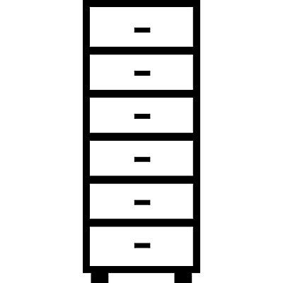 Mauser Karteischrank, Bügelgriffe - 6 Schübe, Standardeinzug, 2-bahnig