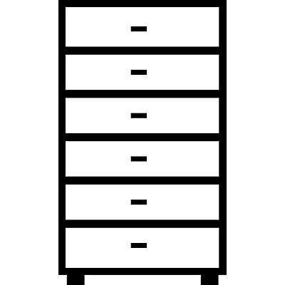 Mauser Karteischrank, Bügelgriffe - 6 Schübe, Standardeinzug, 3-bahnig