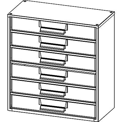 Schubladenmagazin - HxB 387 x 366 mm, 6 Schubladen