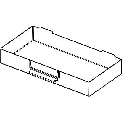 Schubladenmagazin, Schubladen glasklar - HxBxT 387 x 366 x 173 mm, Gehäuse-Traglast 45 kg