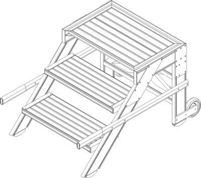 Treppenpodest - Stufenbreite 1000 mm